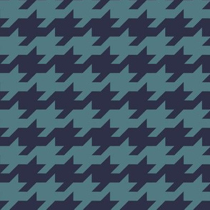 Houndstooth - teal and navy