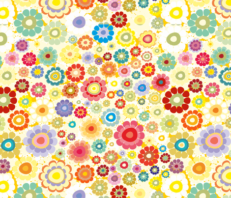 flower field fabric by dariara on Spoonflower - custom fabric
