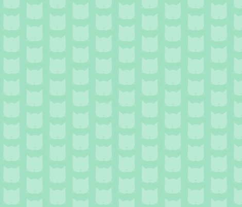Cats In Teal fabric by paigep on Spoonflower - custom fabric