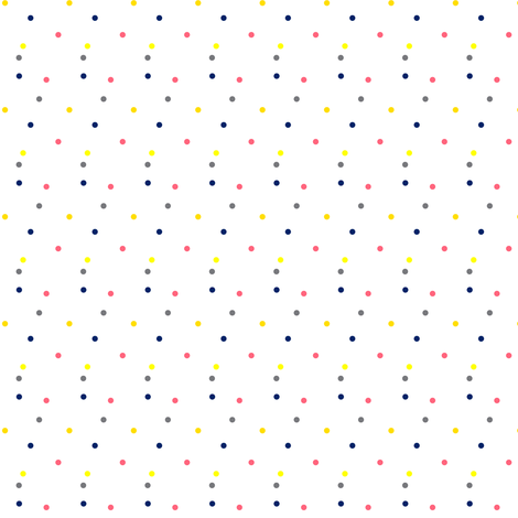Colorful Dots on White (Tiny) fabric by bohobear on Spoonflower - custom fabric