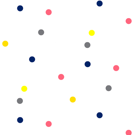 Colorful Dots on White fabric by bohobear on Spoonflower - custom fabric