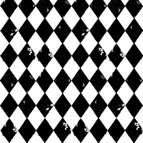 Black and White Harlequin Diamonds fabric by bohobear on Spoonflower - custom fabric