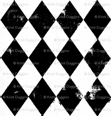 Black and White Harlequin Diamonds