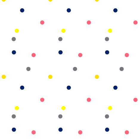 Colorful Dots fabric by bohobear on Spoonflower - custom fabric