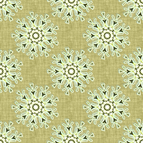 Flowers on linen fabric by joanmclemore on Spoonflower - custom fabric