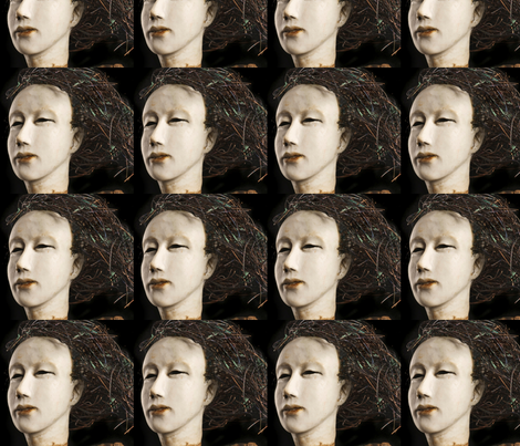 Cathy Rose Face fabric by nancy_martino on Spoonflower - custom fabric