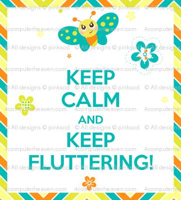 Baby Butterfly Small Frameable Art Mini Poster! - Baby Butterfly Spring Garden - © PinkSodaPop 4ComputerHeaven.com