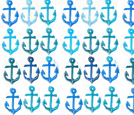 big_anchors fabric by union_studio on Spoonflower - custom fabric
