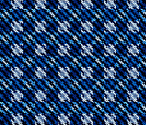 Twill Plaid Circles Blues fabric by glimmericks on Spoonflower - custom fabric