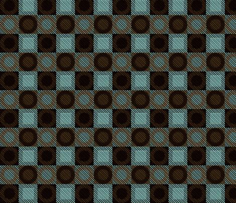 Twill Plaid Circles Mint Chocolate fabric by glimmericks on Spoonflower - custom fabric