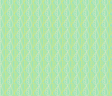 Quince Leaves fabric by abby_zweifel on Spoonflower - custom fabric