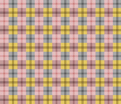 gingham plaid ginger peach fabric by glimmericks on Spoonflower - custom fabric