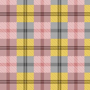 gingham plaid ginger peach