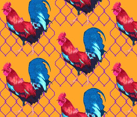Rooster_Pop fabric by mammajamma on Spoonflower - custom fabric