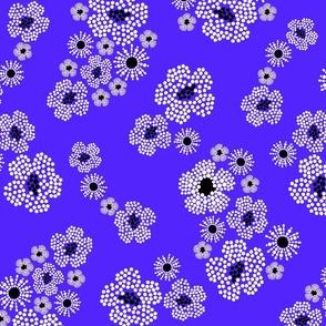 flowers polka dot