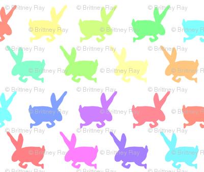Rainbow Bunny Frolic