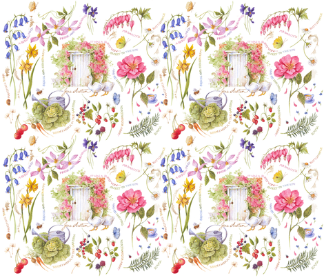 Jane Austen's Garden fabric by jan_harbon on Spoonflower - custom fabric
