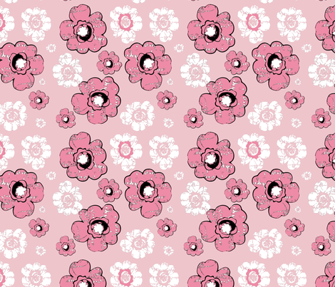 MOD Florals fabric by karenharveycox on Spoonflower - custom fabric