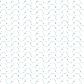 Dusk Blue Wave Chevron