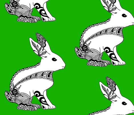 Baby_Rabbit fabric by jane_turnbull on Spoonflower - custom fabric