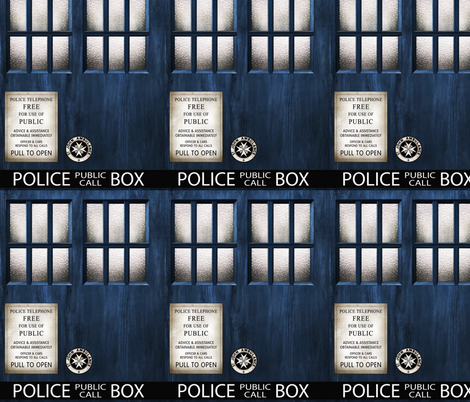 TARDIS  Wood Signage -MEDIUM SCALE fabric by bjornonsaturday on Spoonflower - custom fabric