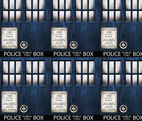 TARDIS  Wood Signage -MEDIUM SCALE fabric by bjornonsaturday on Spoonflower - custom fabric