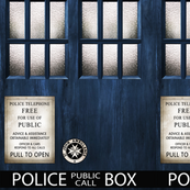 TARDIS  Wood Signage -MEDIUM SCALE