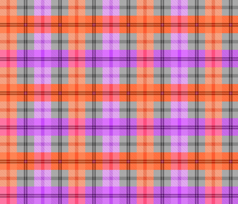 gingham plaid juicy fabric by glimmericks on Spoonflower - custom fabric