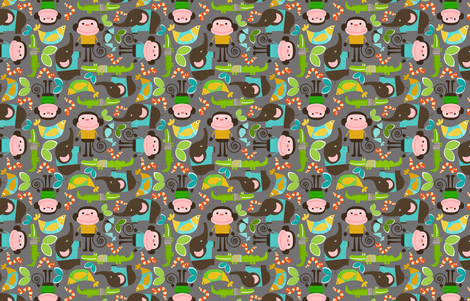 monkeys5 fabric by natitys on Spoonflower - custom fabric
