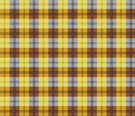 gingham plaid butterscotch and rootbeer fabric by glimmericks on Spoonflower - custom fabric