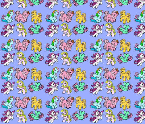 My Little Pony fabric by buttonbutton on Spoonflower - custom fabric