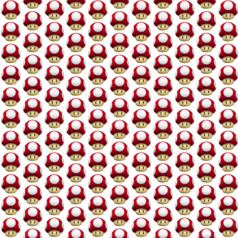 Mario 1Up Mushroom fabric by buttonbutton on Spoonflower - custom fabric