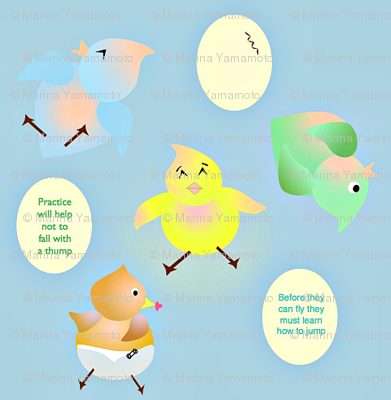 Baby Birds Jump