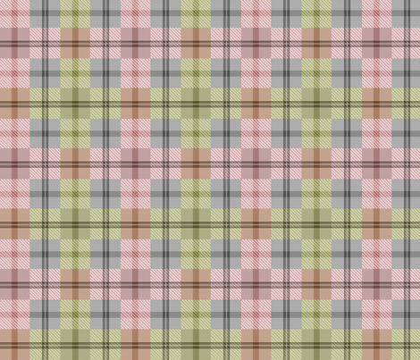 gingham plaid moss rose fabric by glimmericks on Spoonflower - custom fabric