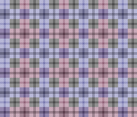 gingham plaid plum fabric by glimmericks on Spoonflower - custom fabric