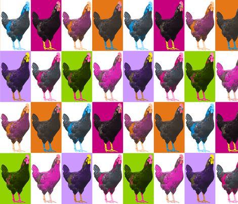 Pop Pop Pop Art Chook Chook Chook fabric by smuk on Spoonflower - custom fabric