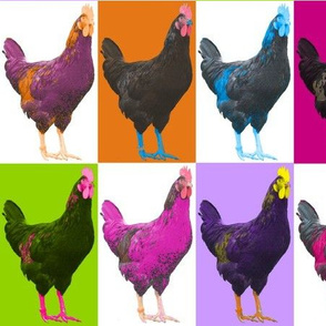 Pop Pop Pop Art Chook Chook Chook