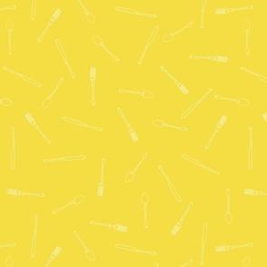 Utensils Pattern Yellow
