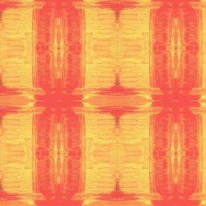 Vermillion Sunset /Ikat style