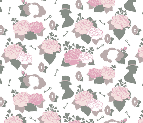 Silhouettes fabric by pocu on Spoonflower - custom fabric