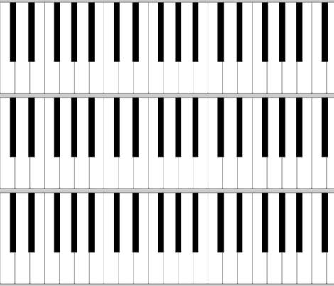 pianoforte keyboard - life-sized