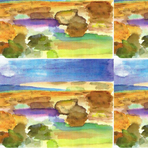 Watercolor of Rocks