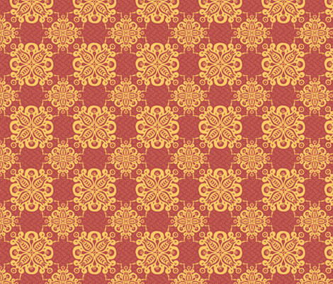 damask lipstick gold 1500 fabric by glimmericks on Spoonflower - custom fabric