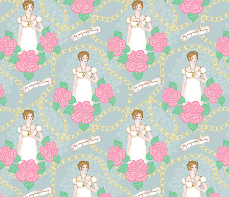 Fanny between chains and roses fabric by dinorahdesign on Spoonflower - custom fabric