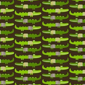 Dressed Alligators in Brown