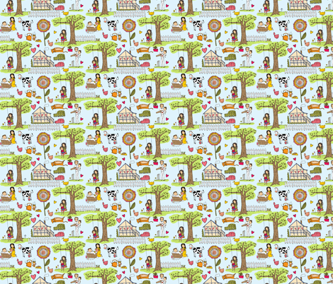 I greatly esteem my life fabric by laura_the_drawer on Spoonflower - custom fabric