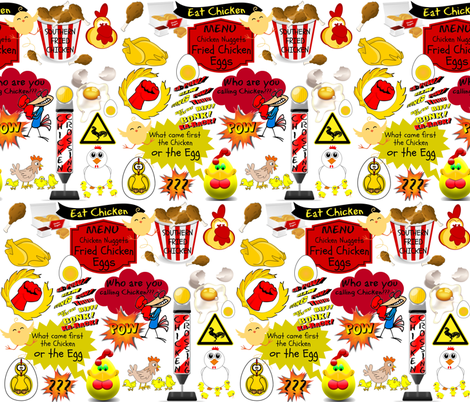 SOUTHERN FRIED CHICKENS fabric by bluevelvet on Spoonflower - custom fabric