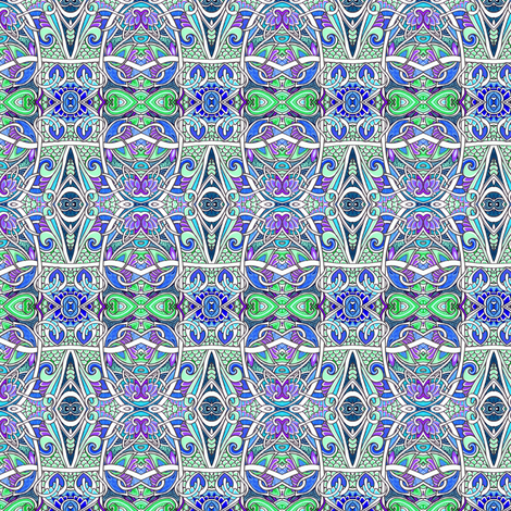 Can You Find the Acorns? (abstract stripe with acorns) fabric by edsel2084 on Spoonflower - custom fabric