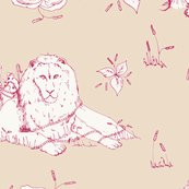 Lion_mouse_toile_beige_red_shop_thumb