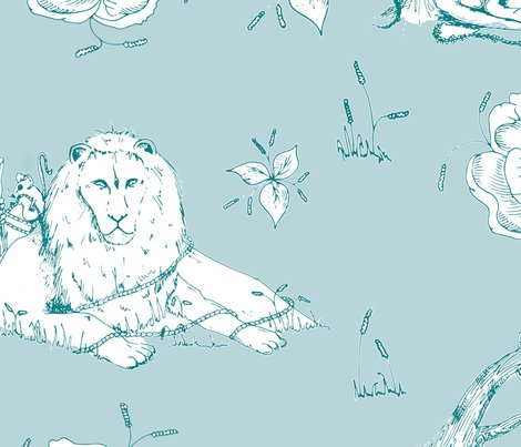 Lion_mouse_toile_green-copy_shop_preview